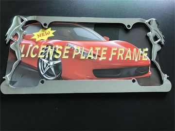 China Slim Style Car License Plate Frame Durable Zinc Die Cast Metal Frame supplier