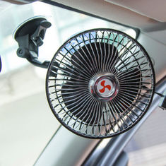 China Strong Sucker Clip Car Fan 6 Inch Automatic Shaking Head With Speed Control Switch supplier