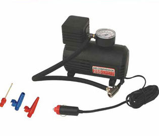 China 25L / Min Air Flow Universal Car Accessories Car Tire Inflator Black Color supplier