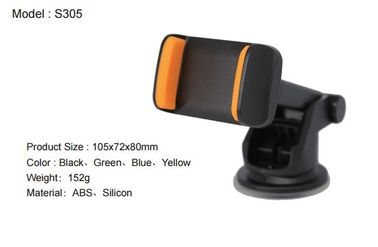 Orange Sucktion Cell Phone Car Mount Dash Phone Holder With Silcon Clip