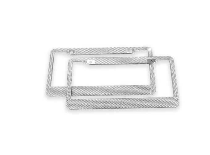 Rhinestone Diamond Bling Crystal License Plate Frame , Girly License Plate Frames